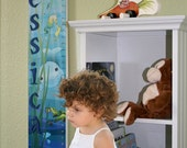 Personalized Wooden Growth Chart - Sea Babies