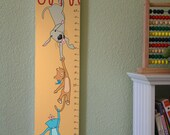 Personalized Growth Chart - Hanging Out With Friends - Light Orange