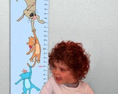 Personalized Growth Chart - Hanging Out With Friends - Light Blue
