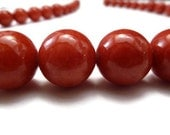 Red Necklace - Marble Necklace - Stone Necklace