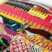 Eclectic African wax Print batik ends strips - 100 per cent cotton