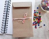 "25 Kraft paper bag envelopes size 4 X 7"""