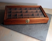 Vintage Shadowbox / Curio Display with glass lid, wall hanging