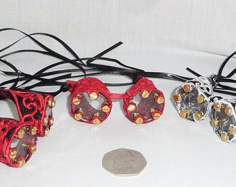 Mini Embroidered Lace Goggles - Perfect For Steampunk Ladies