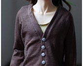 Buttoned tricot shirt for BJD - Light brown