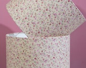 Beige and Pink Floral Drum Lampshade
