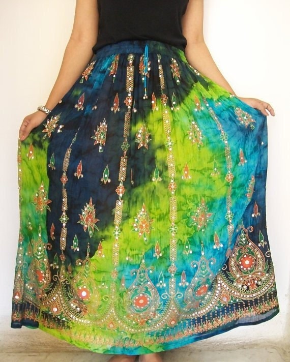Indian Maxi Skirt, Gypsy Skirt, Bohemian Skirt, Long Skirt, Bollywood Skirt