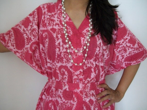 Paisley Kaftan , Caftan, Perfect long dress, Spa Robe, For to be Moms, Nursing Kaftan, Sleepwear, Best Gift for her