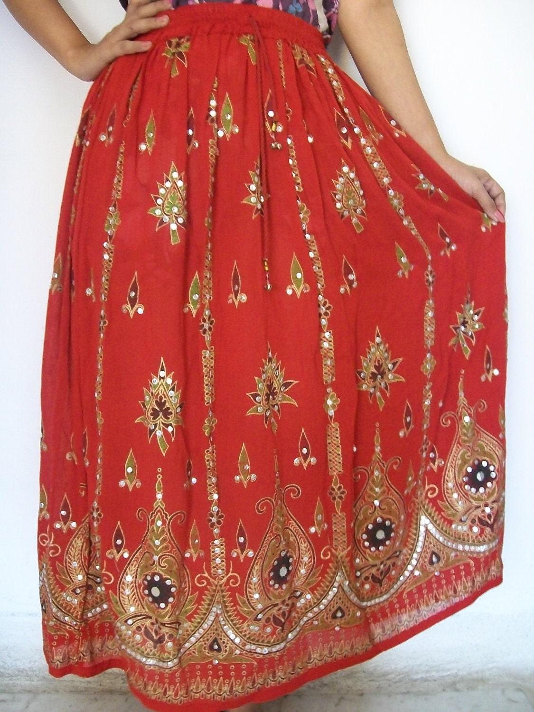 Indian Maxi Skirt Gypsy Skirt Bohemian Skirt Long Skirt