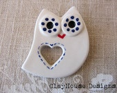 Porcelain: Owly Brooch Pin