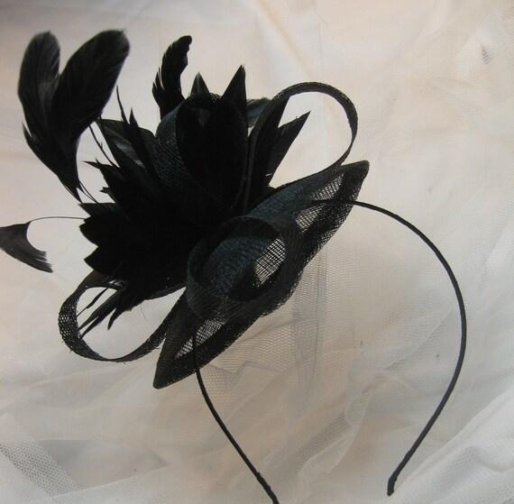 Black Feather Fascinator