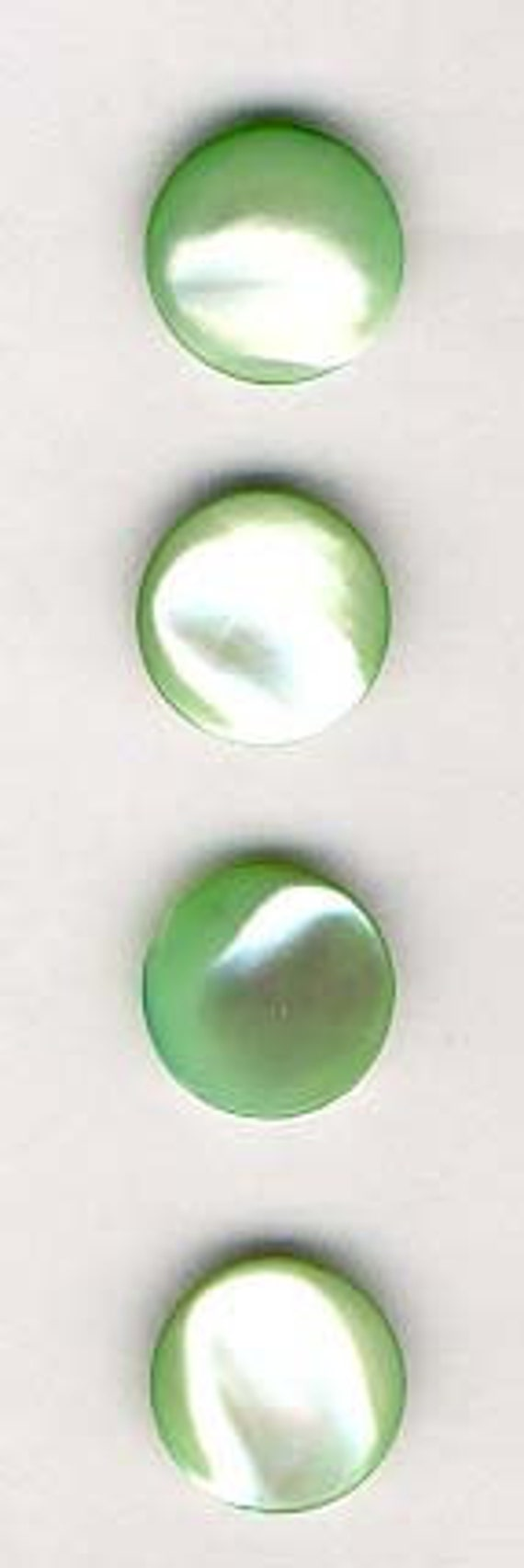 Set of 4 Green Mother of Pearl  Buttons