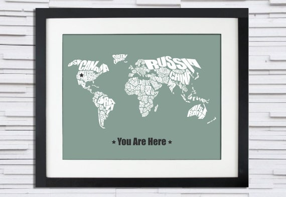 You Are Here - World Word Map