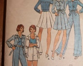 Butterick 3051 Vintage Tennis Inspired 5 Outfits in One Pattern Size 12 Bust 34""