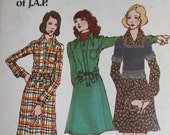 Butterick 6793 Kenzo of J.A.P. Designer Dress and Sweater Pattern