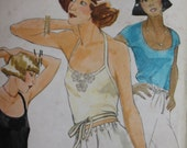 Butterick 4882 Scoop Neck T Shirt, Halter Top, and Tank Top Misses Size Medium