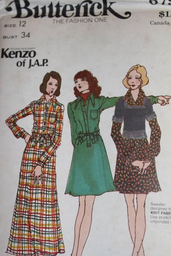 Butterick 6793 Kenzo of J.A.P. Designer Dress and Sweater Pattern