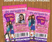 Shake It Up Girl's Birthday Party Invitations