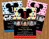 Mickey Mouse Clubhouse and Minnie Mouse Party Invitations