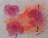 Original watercolor - signed by painter.  Title: Spring Frost