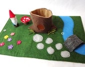 Gnome Home Travel Play Mat for On-the-Go