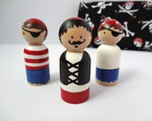 Pirate Wooden Peg Doll