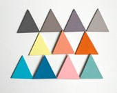 Colorful Triangles Chalkboard Write On Re-Usable  Magnets, Choose Your Colors, Set of 4