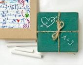 Chalkboard Coasters, Back to School, Gift for Teacher, set of 6