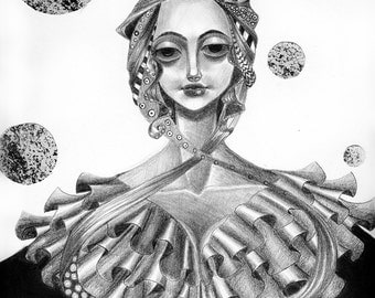 The Queen Original Drawing