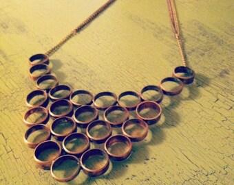 Copper Circles Statement Necklace