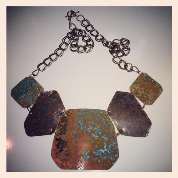 SALE: Patina Bib Necklace