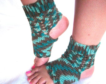 Made to Order...Divine: Light and Lacy Yoga Socks crocheted in your choice of fine, wool-blend sock yarn