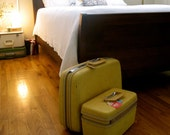 Yellow Vintage Set of Samsonite Luggage