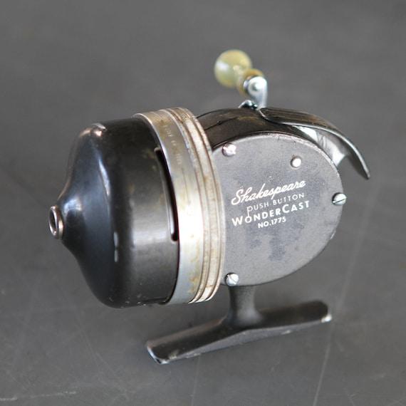 Vintage shakespeare wondercast fishing reel for Push button fishing reel