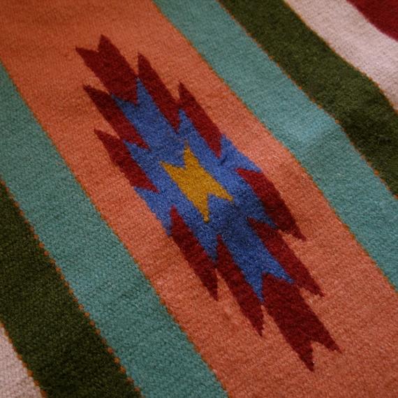 Vintage Wool Aztec Rug