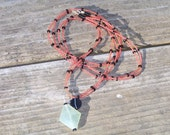 Long Beaded Necklace with Pendant