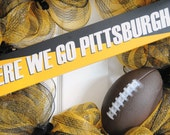 Deco Mesh Pittsburgh Steelers Wreath