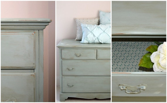 RESERVED for Kimberly - Farmhouse Distressed Dresser