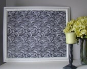 Magnetic Memory Board -- Modern White, Black, and Yellow