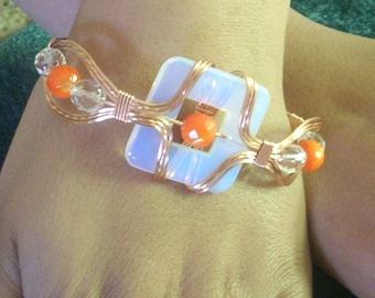Orange Curve Bracelet