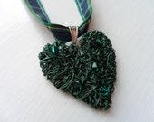 Scottish Nae Wan Heart Tartan Pendant