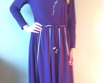Purple long vintage dress
