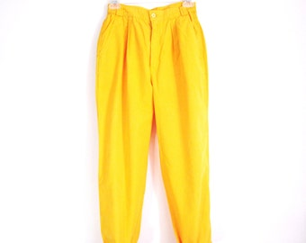 Yellow Summer Pants vintage 80