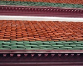 Red Tiled Roof Photograph Grand Palace, Bangkok, Thailand, Travel Photography