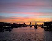 Sunrise, River Thames, Port of London, Tower Bridge Fine Art  Photography 7x5