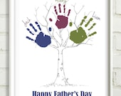 Father's Day Printable Tree Print for Handprints  8x10 printable pick your colors Australia