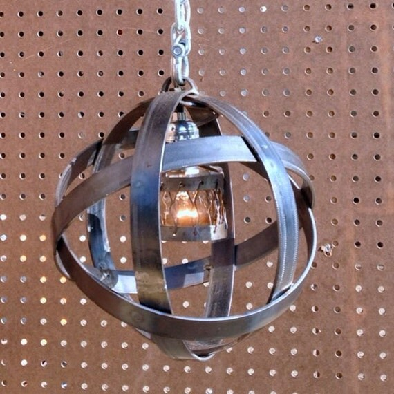 Industrial Steel Ball Ceiling Light