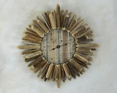 Saquaro Rib Sunburst Wall Clock