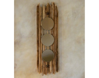 Wall Mirror with Saguaro Cactus Ribs