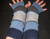 Blue Denim Upcycled Arm Warmers